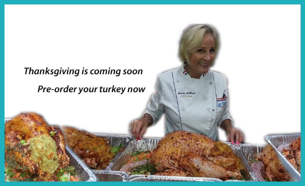 Pre order for Thanksgiving